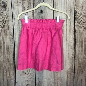 J. Crew Pink Linen Mini Skirt 00